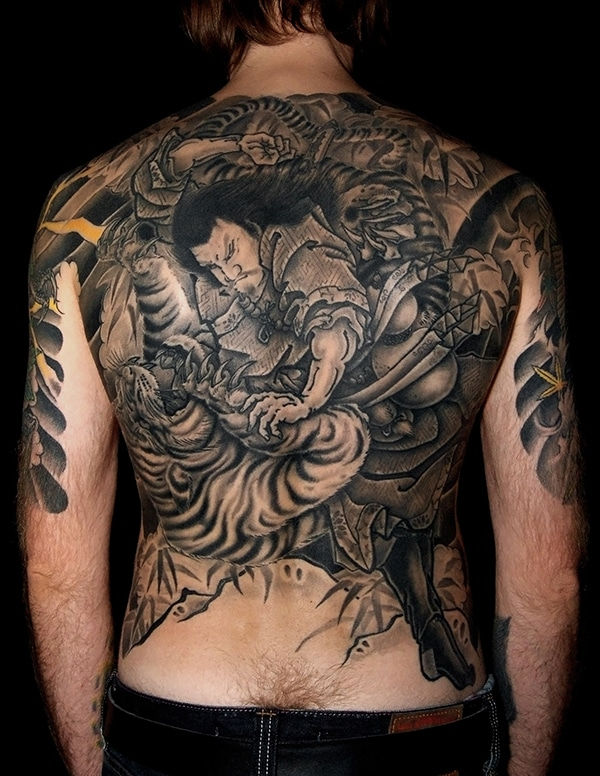 Japanese back piece tattoo