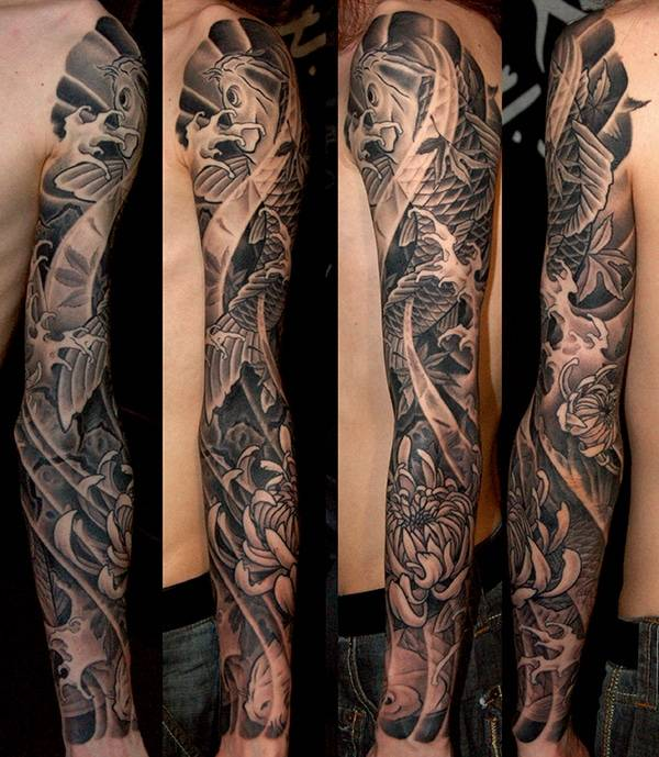 Japanese Tattoos NYC. Koi full sleeve