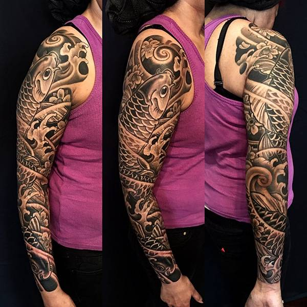 Japanese Full Sleeve Tattoo