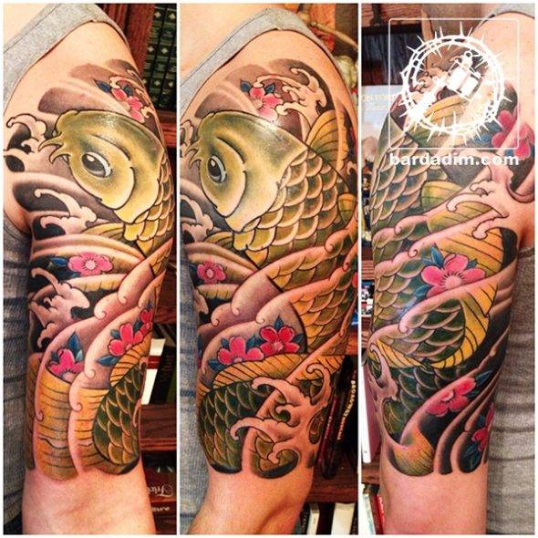Japanese Tattoo. Koi Sleeve