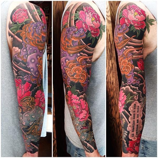 Shishi Lion Japanese tattoo