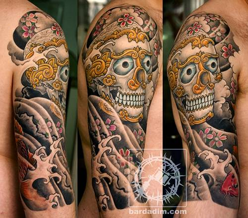 japanese tattoo. skull tattoo