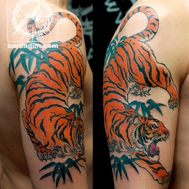 Japanese tiger tattoo: http://bardadim.tattoo/japanese-tiger-tattoo/