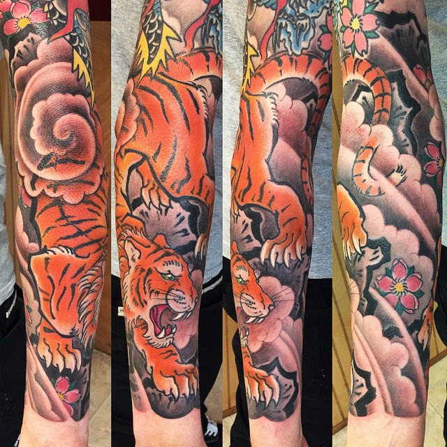 Japanese Tattoo. Tiger Japanese Tattoo