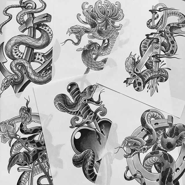 snake tattoo design