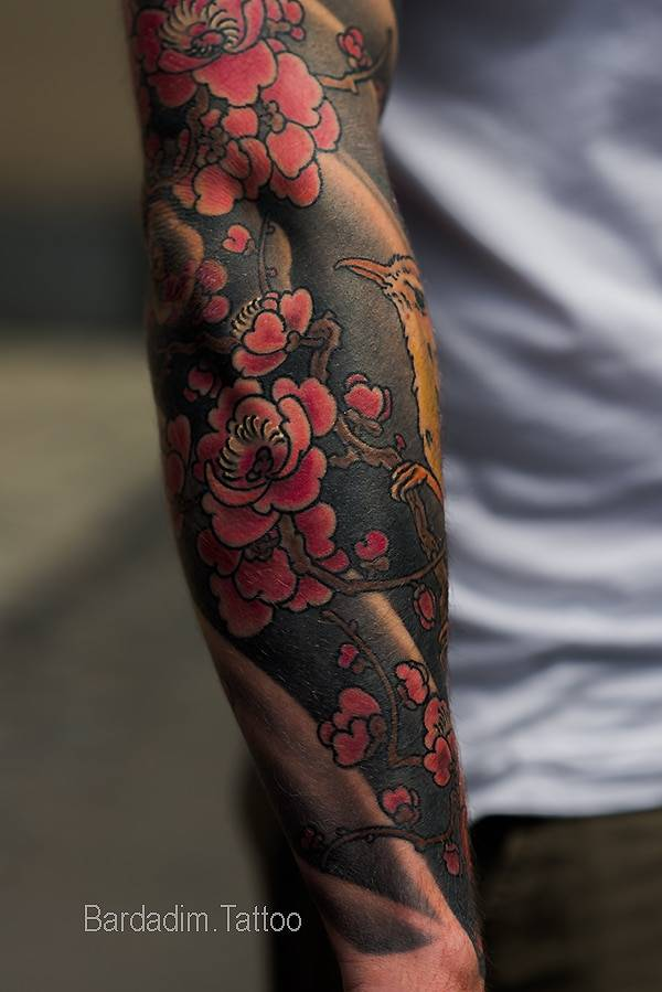 Tattoo Aftercare. Japanese Full Sleeve